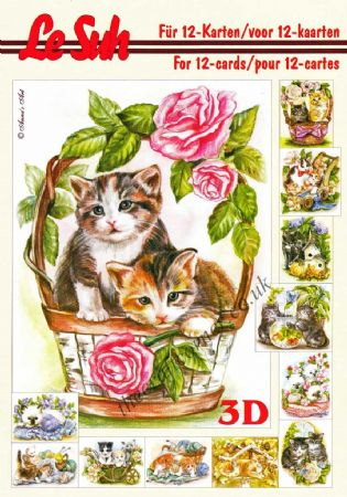 Cats A5 3D Decoupage Book By Le Suh